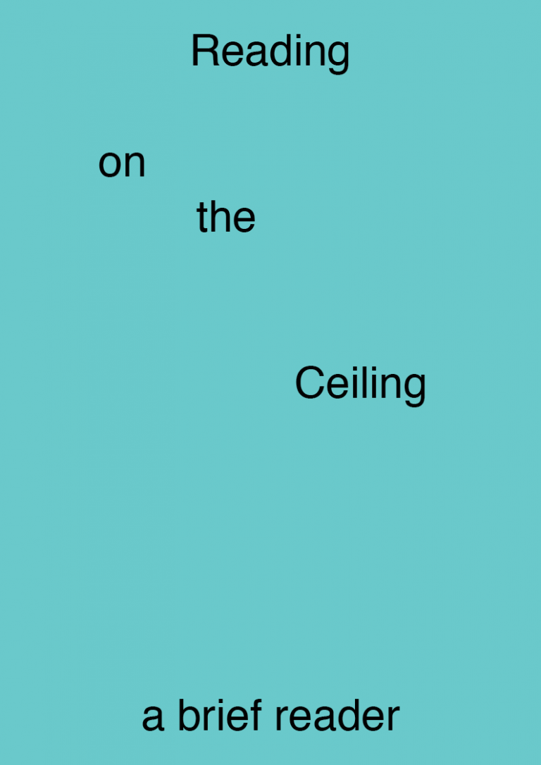 La Houle Collective <br> Reading on the Ceiling – a Brief Reader